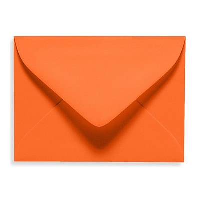 LUX® 70lb 2 11/16x3 11/16 #17 Mini Envelopes W/Glue, Mandarin Orange, 1000/BX