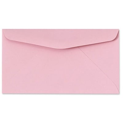 LUX® 3 5/8 x 6 1/2 #6 3/4 60lbs. Regular Envelopes, Pastel Pink, 50/Pack