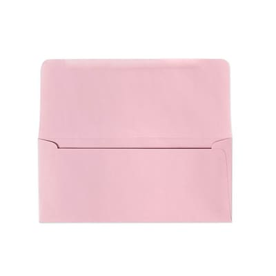 LUX® 3 7/8 x 8 7/8 #9 60lbs. Remittance, Donation Envelopes, Pastel Pink, 50/Pack, 10 Packs/Box
