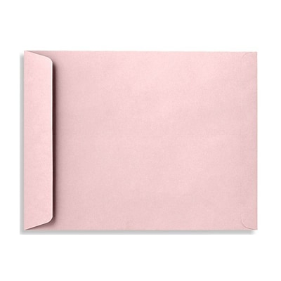LUX® 10 x 13 70lbs. Open End Envelopes, Candy Pink, 50/Pack