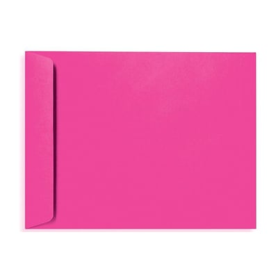LUX® 80lbs. 10 x 13 Open End Envelopes W/Glue, Magenta Pink, 1000/BX