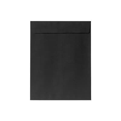 LUX® 80lbs. 10 x 13 Open End Envelopes, Midnight Black, 500/BX