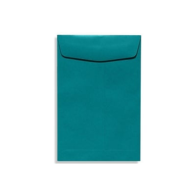 LUX® 10 x 13 80lbs. Commercial Flap Open End Envelopes, Teal Blue, 50/Pack