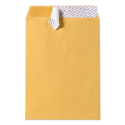 LUX® 12 x 15 1/2 Open End Envelopes With Peel & Seal, Brown Kraft, 50/Pack