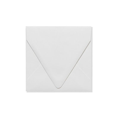 LUX 5 x 5 Square Contour Flap Envelopes 500/Box) 500/Box, White - 100% Recycled (1840-WPC-500)