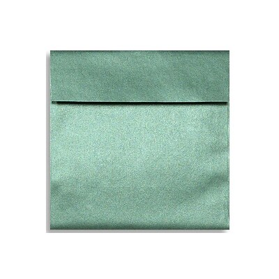 LUX® 6 1/2 x 6 1/2 Square Envelopes W/Glue, Emerald Metallic Green, 1000/BX