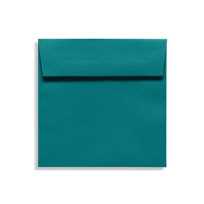 LUX 6 1/2 x 6 1/2 Square Envelopes 50/Box) 50/Box, Teal (EX8535-25-50)