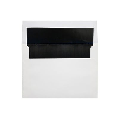 LUX 6 1/2 x 6 1/2 Foil Lined Square Envelopes 1000/Box) 1000/Box, White w/Black LUX Lining (FLWH8535-021000)