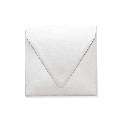 LUX 6 1/2 x 6 1/2 Square Contour Flap Envelopes 250/Box) 250/Box, Quartz Metallic (1855-08-250)