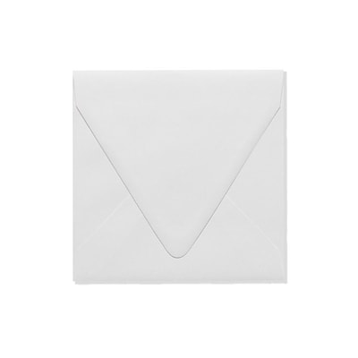 LUX 6 1/2 x 6 1/2 Square Contour Flap Envelopes 250/Box) 250/Box, White - 100% Recycled (1855-WPC-250)