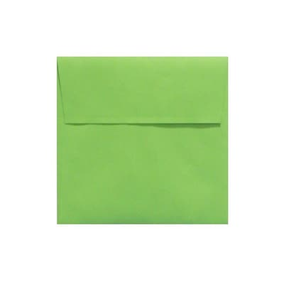 LUX® 80lbs. 7 x 7 Square Envelopes W/Peel & Press, Limelight Green, 250/BX