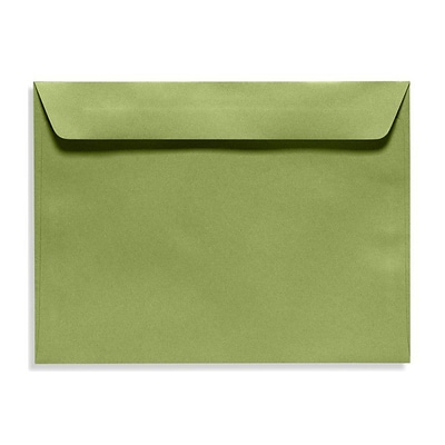 LUX® 9 x 12 Booklet Envelopes, Avocado Green, 50/Pack