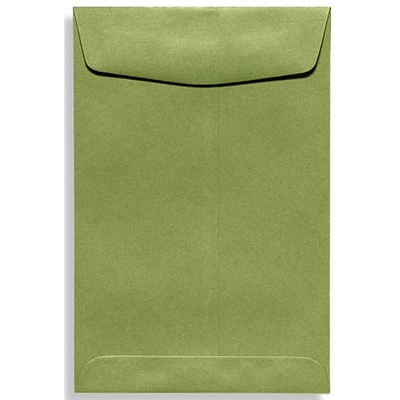 LUX® 9 x 12 70lbs. Open End Envelopes, Avocado Green, 50/Pack
