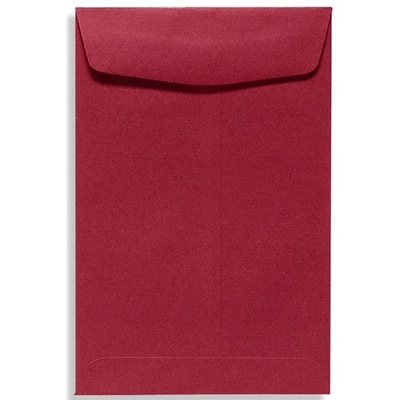 LUX® 70lbs. 9 x 12 Open End Envelopes, Garnet Red, 250/BX
