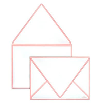 LUX® 80lb 5 1/4x7 1/4 A7 Invitation Envelopes W/Glue, Candy Pink Seam, 500/BX