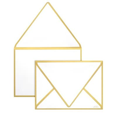 LUX® 80lbs. 5 1/4 x 7 1/4 Contour Flap Envelopes W/Glue; Gold Seam, 250/BX