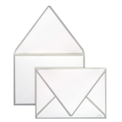 LUX A7 Colorseams Envelopes (5 1/4 x 7 1/4) 1000/Box, Silver Seam (CS1880-06-1000)