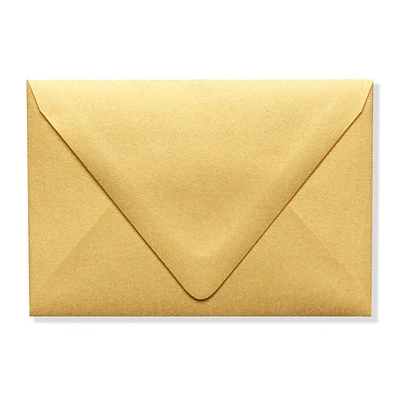 LUX A1 Contour Flap Envelopes (3 5/8 x 5 1/8) 500/Box, Gold Metallic (1865-07-500)