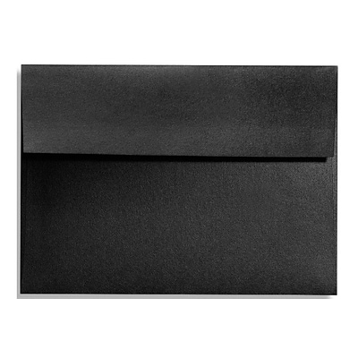 LUX A1 Invitation Envelopes (3 5/8 x 5 1/8) 250/Box, Black Satin (FA4865-01-250)
