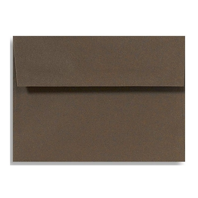 LUX A1 Invitation Envelopes (3 5/8 x 5 1/8) 50/Box, Chocolate (EX4865-17-50)