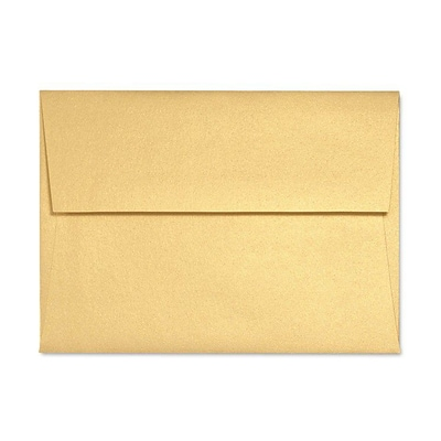 LUX A7 Invitation Envelopes (5 1/4 x 7 1/4) 500/Box, Gold Metallic (5380-07-500)