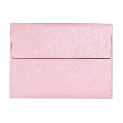 LUX A7 Invitation Envelopes (5 1/4 x 7 1/4) 500/Box, Rose Quartz Metallic (5380-04-500)