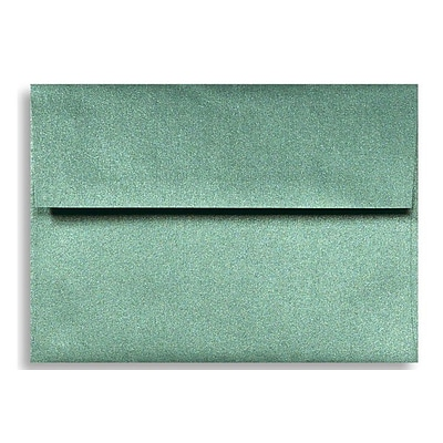 LUX® 80lbs. 4 3/8 x 5 3/4 A2 RSVP, Invitation Envelopes W/Glue, Emerald Metallic Green, 250/BX