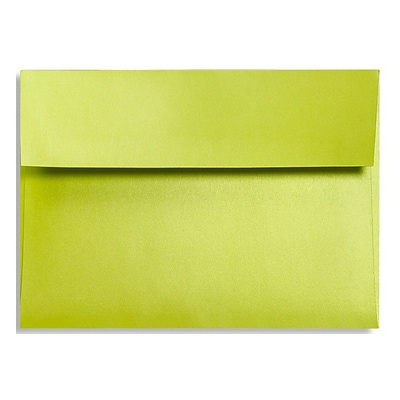 LUX® 92lbs. 4 3/8 x 5 3/4 A2 Invitation Envelopes W/Glue, Glowing Green, 500/BX