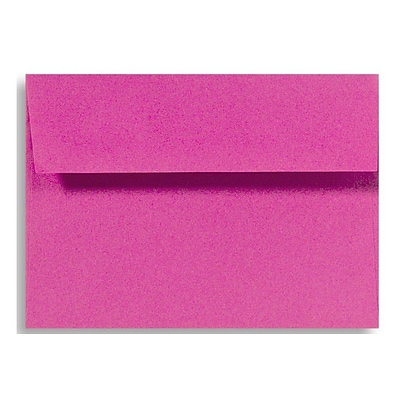 LUX® 70lbs. 4 3/8 x 5 3/4 Square Flap Envelopes W/Glue, Magenta Pink, 1000/BX