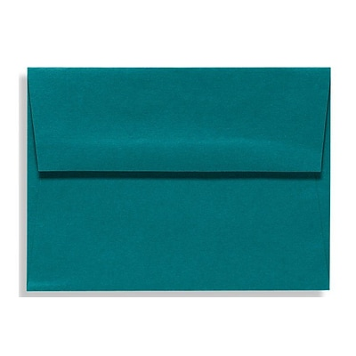 LUX® 70lbs. 4 3/8 x 5 3/4 Square Flap Envelopes W/Glue; Teal Blue, 500/BX