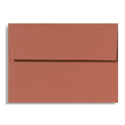 LUX® 4 3/8 x 5 3/4 70lbs. A2 Invitation Envelopes W/Glue, Terracotta Brown, 50/Pack