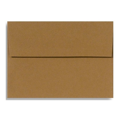 LUX® 70lbs. 4 3/8 x 5 3/4 A2 Square Flap Envelopes, tobacco brown, 250/BX