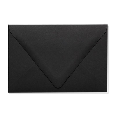 LUX A4 Contour Flap Envelopes (4 1/4 x 6 1/4) 50/Box, Midnight Black (1872-B-50)