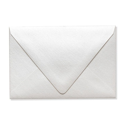 LUX A4 Contour Flap Envelopes (4 1/4 x 6 1/4) 500/Box, Quartz Metallic (1872-08-500)