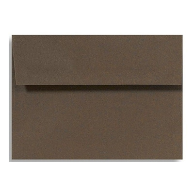 LUX A4 Invitation Envelopes (4 1/4 x 6 1/4) 50/Box, Chocolate (LUX-4872-17-50)