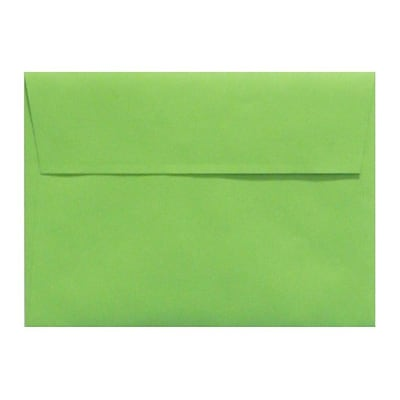 LUX A4 Invitation Envelopes (4 1/4 x 6 1/4) 50/Box, Limelight (LUX-4872-101-50)