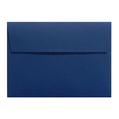 LUX A4 Invitation Envelopes (4 1/4 x 6 1/4) 50/Box, Navy (LUX-4872-103-50)