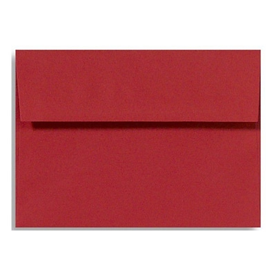 LUX A4 Invitation Envelopes (4 1/4 x 6 1/4) 500/Box, Ruby Red (LUX-4872-18-500)