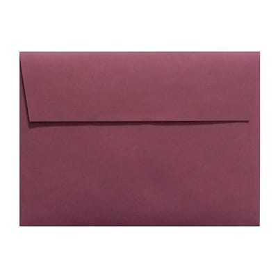 LUX® 4 1/4 x 6 1/4 Smooth Square Flap Envelopes W/Peel & Press, Vintage Plum Purple, 1000/BX
