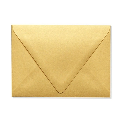 LUX A6 Contour Flap Envelopes (4 3/4 x 6 1/2) 50/Box, Gold Metallic (1875-07-50)