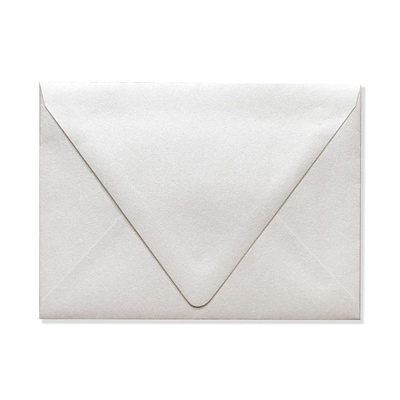 LUX A6 Contour Flap Envelopes (4 3/4 x 6 1/2) 250/Box, Quartz Metallic (1875-08-250)