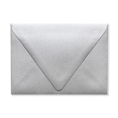 LUX A6 Contour Flap Envelopes (4 3/4 x 6 1/2) 1000/Box, Silver Metallic (1875-06-1000)