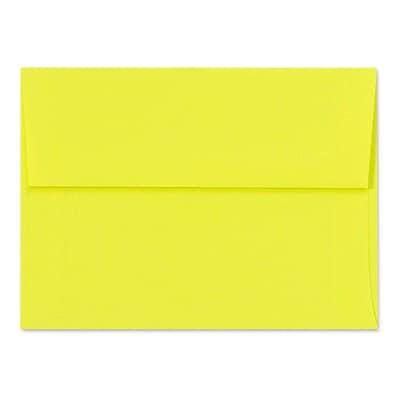 LUX A6 Invitation Envelopes (4 3/4 x 6 1/2) 250/Box, Citrus (FE4275-20-250)