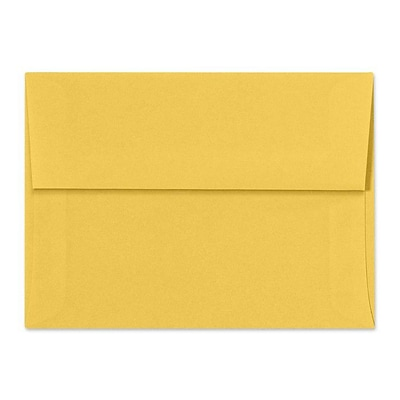LUX A6 Invitation Envelopes (4 3/4 x 6 1/2) 500/Box, Goldenrod (SH4275-08-500)