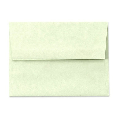 LUX® 4 3/4 x 6 1/2 60lbs. A6 Invitation Envelopes W/Glue, Green Parchment, 50/Pack