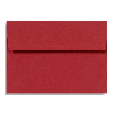 LUX A6 Invitation Envelopes (4 3/4 x 6 1/2) 1000/Box, Holiday Red (FE4275-15-1000)