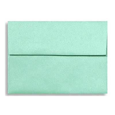 LUX A6 Invitation Envelopes (4 3/4 x 6 1/2) 500/Box, Lagoon Metallic (5375-27-500)
