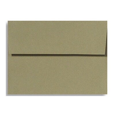 LUX® 70lbs. 4 3/4 x 6 1/2 A6 Invitation Envelopes W/Glue, Moss Green, 250/BX