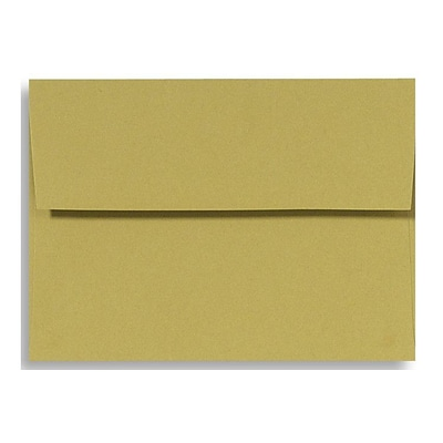 LUX® 70lbs. 4 3/4 x 6 1/2 A6 Invitation Envelopes W/Glue, Olive Green, 250/BX