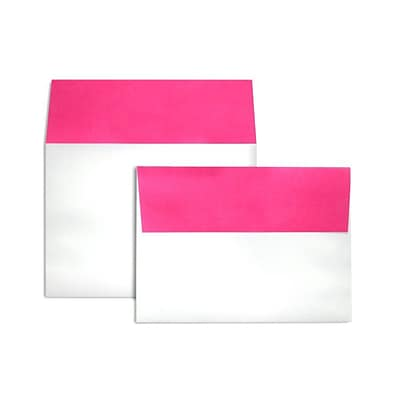 LUX A7 Colorflaps Envelopes (5 1/4 x 7 1/4) 500/Box, Fuchsia Flap (CF4880-16-500)